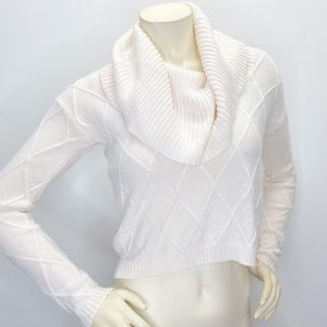Guess Cowl Neck Cropped Sweater Sz XS